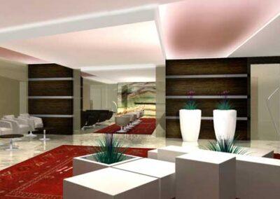 Hall per il complesso per uffici Agip kco