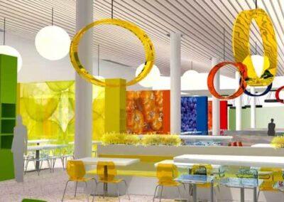 Bar per il complesso per uffici Agip kco