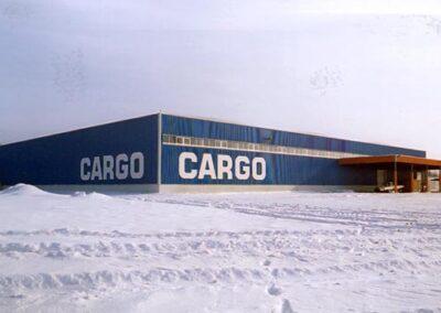 Costruzione del nuovo terminal cargo dell'aeroporo di Demodedovo
